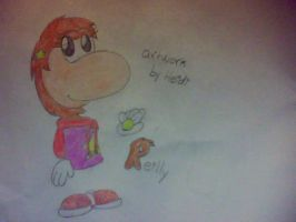 The sister of Rayman by HTFNeoHeidi