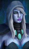 Traxex, the Drow Ranger by Hawoot