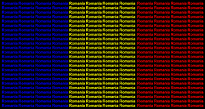 Romania name flag by ABtheButterfly