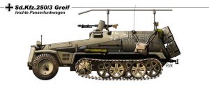 Sd.Kfz.250.3 Greif by nicksikh