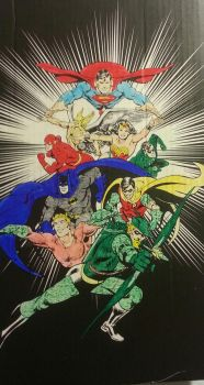 Colored in Justice League by DemonKing113