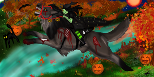 Happy Tokoween- Haunted Toko Ride Entry by lighteningfox