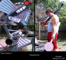Team Fortress 2 Pyro Flamthrower (costume weapon) by Minatek616
