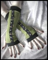 Gothic Bootcamp Arm Warmers by ZenAndCoffee