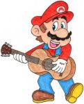Mario Playing the Guitar by nintendomaximus