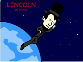 Abraham Lincoln IN SPACE by feedmyleg