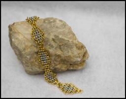 Slv Gold Maille Anklet 1 by FeMailleTurtle