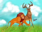 The Lion King/Bambi-King Mufasa/Prince of forest by Diego32Tiger