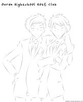 Ouran Host Club Colouring Page by Maelthra-Studios
