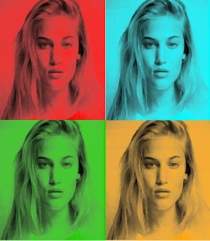 Sonya Gorelova In Pop Art-6 by freddie64