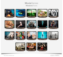 Movie Genres Icons 2013 Update. by sirubico