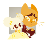 For Saetje: Turner and Crumpet by DemonGemini6