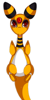 Ampharos on your screen by Judaime