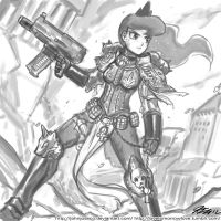 Sisters of Battle Human Luna by johnjoseco