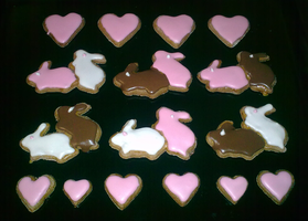 Valentine gingerbreads by NadiaBys