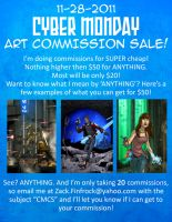Cyber Monday Commission Sale by Finfrock