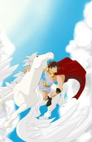 Wrath of the Titans: Perseus and Pegasus by RAMONSALAS
