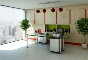 Modern office by Flavius-C