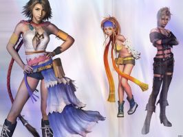 Final Fantasy X2 Casts by iced02