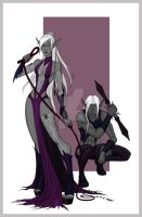 Drow by BluFireDragon667