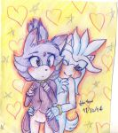 Silver, Blaze hugs~ by Hollsterweelskitty