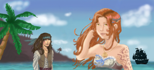 beach (not finished) by RoseoftheOcean
