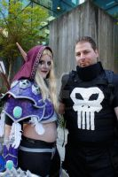Lady Sylvanas and Punisher by abisue