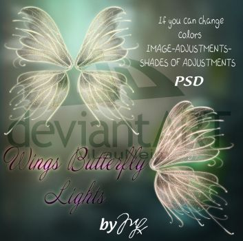 Wings Butterfly Glitter PSD by MLauviah