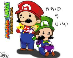 Mario and Luigi by SolbiiMelody
