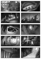 IRON: Sugar Cave Thumbnails: Final B/W Pass by Paperwick