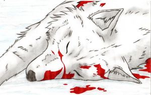 Wounded Kiba by OkamiiScarlett