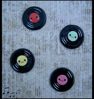Record Charms by LastStringOfLovely