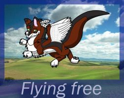 Flying free and cute by Darksoul-wolf