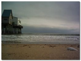 Beach at winter by familiarreverie