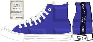 Custom Converse : Tardis Remix by ninja-hamsters