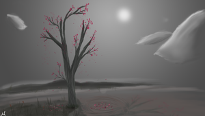 The Last Cherry Blossom by huntere15