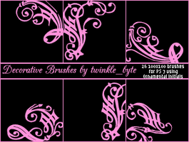 Decorative Brushes Set 2 by twilight-aria