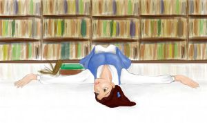 Belle And Her Books by lizabif-f
