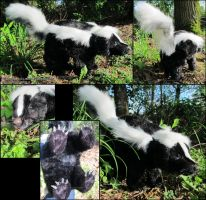 Realistic Skunk Plush by AnimalArtKingdom