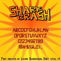 Font - Shark Crash by TheSharkMaster