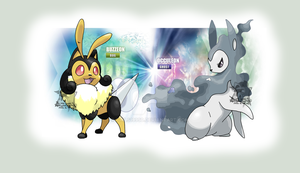 Fake Bug and Ghost Eeveelutions by Tails19950
