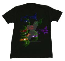 TMNT Tee design take 1 by Blueicebird