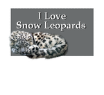 I Love Snow Leopards by Loulou13