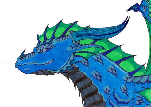 Water Dragon by crescentwolf01