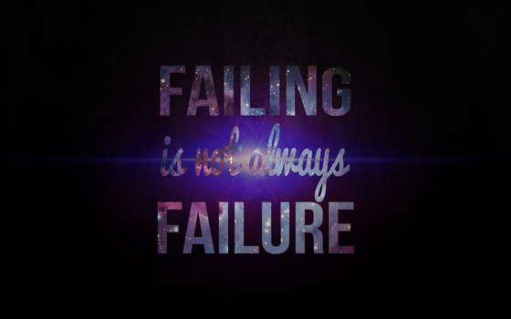Failing Is Not Always Failure by Bocodle
