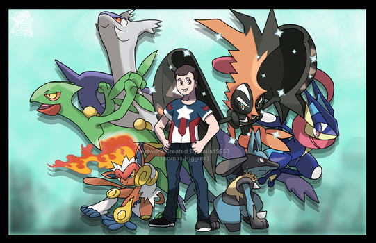 Commission - John's Pokemno Team by Tails19950