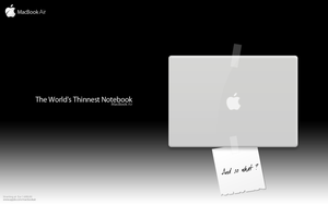 MacBook Air Contest Entry N-2 by Youness-toulouse