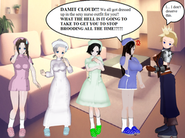 Final Fantasy VII Girls Nurses by quamp