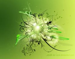 green wallpaper by Etoile-du-nord