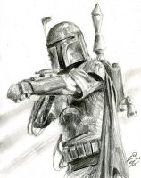 boba fett sketch 2 by bamboleo